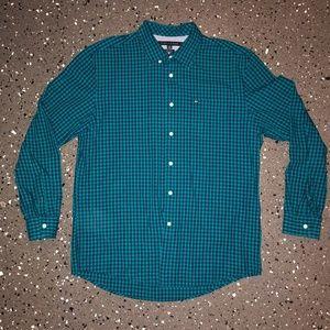 Tommy Hilfiger Mens Blue/Turquoise  Plaid XL Long